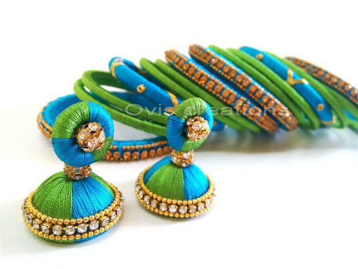 Silk thread bangles by ovis