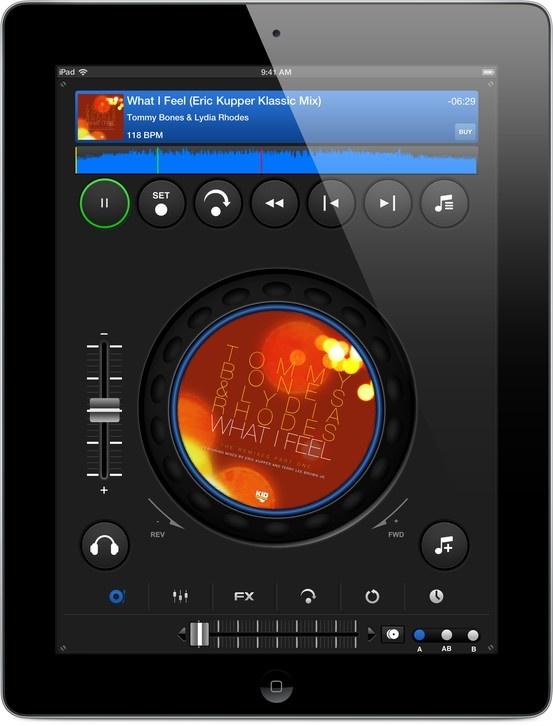 DJ Mixer Pro iPad App in CDJ mode