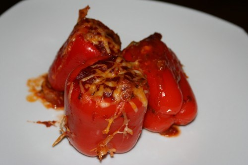 Stuffed Pizza Pepper | Gluten Free | Pinterest | Pizza and Stuffed ...