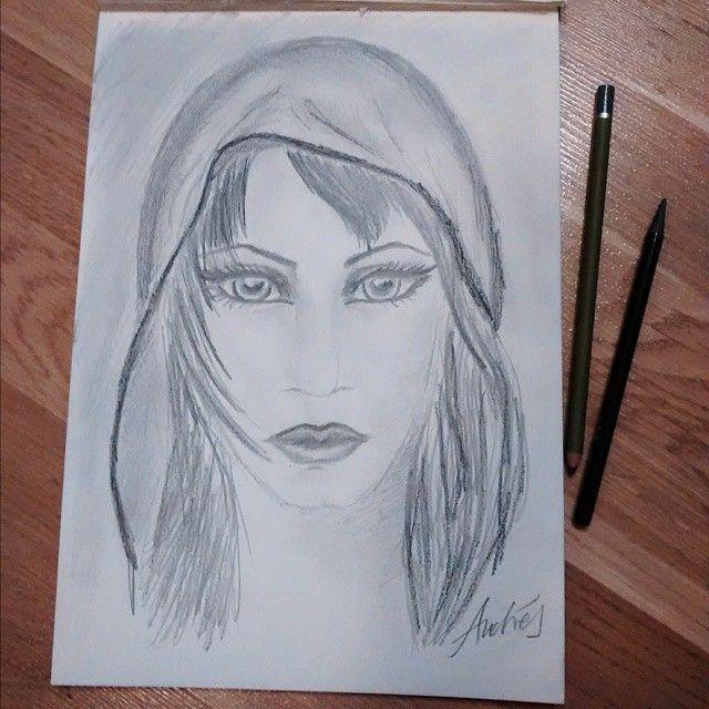 Sad lady #desenez #thoughtsonpaper #mydrawing