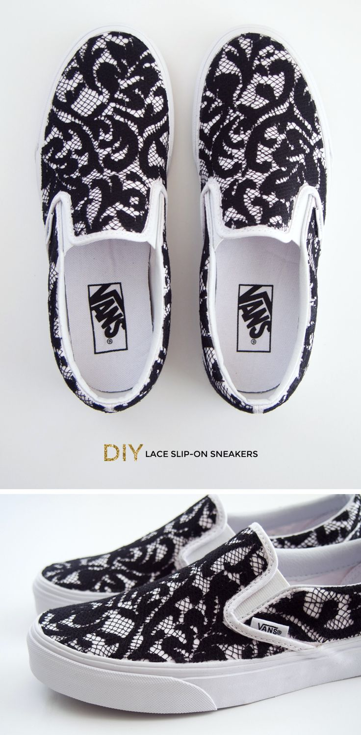 DIY Lace Slip-on Vans Sneakers let's make these @Matty Chuah Tweedsuitcase !!