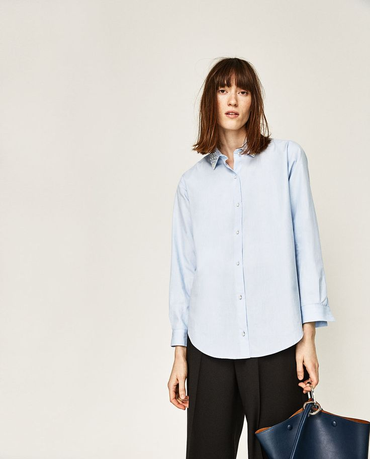 OVERSIZED PEARL SHIRT-Shirts-TOPS-WOMAN | ZARA United States