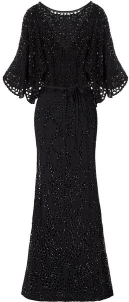 EASTLAND Sequin Broderie Anglais Gown