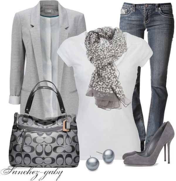 """""""Shades of Gray"""" by sanchez-gaby on Polyvore"""
