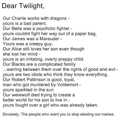 A pin led me on to this hillarious Twilight hating spree