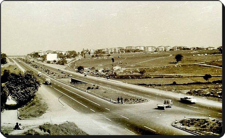 E5 Otoyolu - 1960 lar - Günümüzde Medipol hastanesinin önünden Acıbadem'e bakış