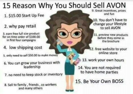 Become an Avon Rep. $25 gets you start.