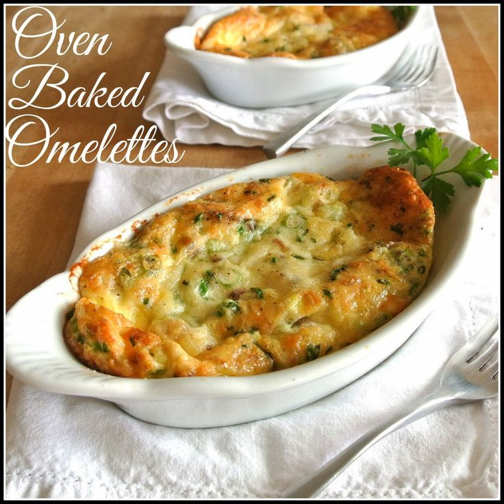 Oven Baked Omelettes - Treat your love to breakfast in bed. They just might return the favor sometime!