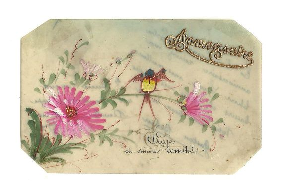 Celluloid lllustrated Postcard French Antique by LaBelleEpoqueDeco