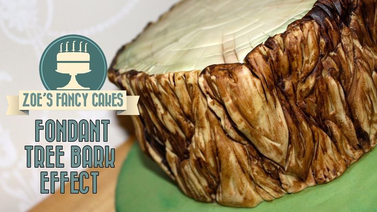 How to make a cut log and tree bark out of fondant. Easy to do! To see more of my cakes and creations please visit my Facebook page at https://www.facebook.c...