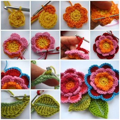 If you are looking for a beautiful way to embellish your world, these crochet flowers will do the trick. They look stunning. The color changes are fun if you want to try too. Head over Here for great instructions