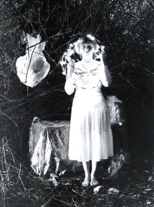 """1978. Dieter Appelt.  """"Erinnerungsspur""""  Ophelia mit Lichterkranz"""