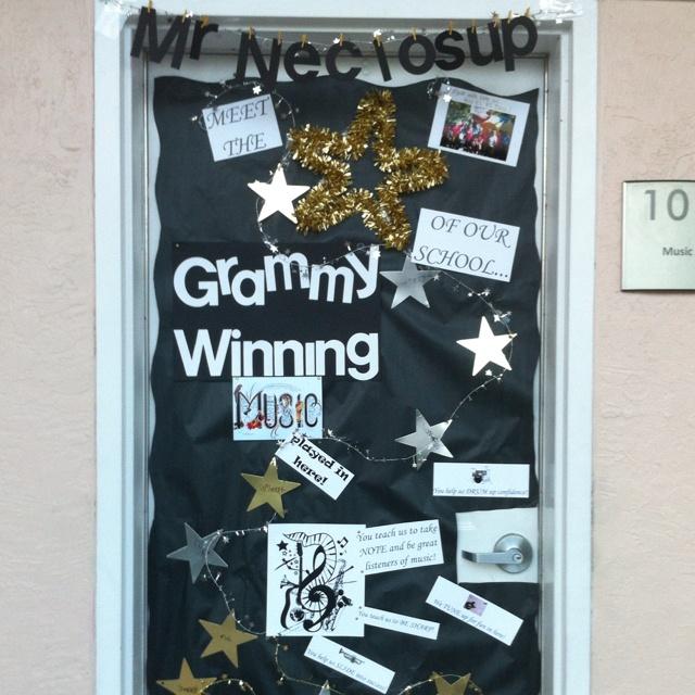 Decorated the Music Teacher's classroom door for Teacher Appreciation Week! ;)