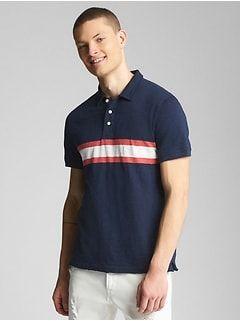 b3d15bc5f Men:T-Shirts & Polos|gap | Cousin Pic | Striped polo shirt, Shirts ...