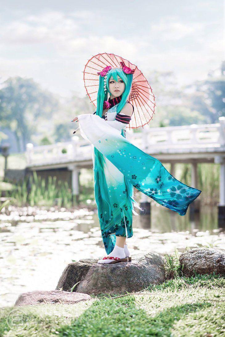 Hatsune miku vocaloid  Cosplay