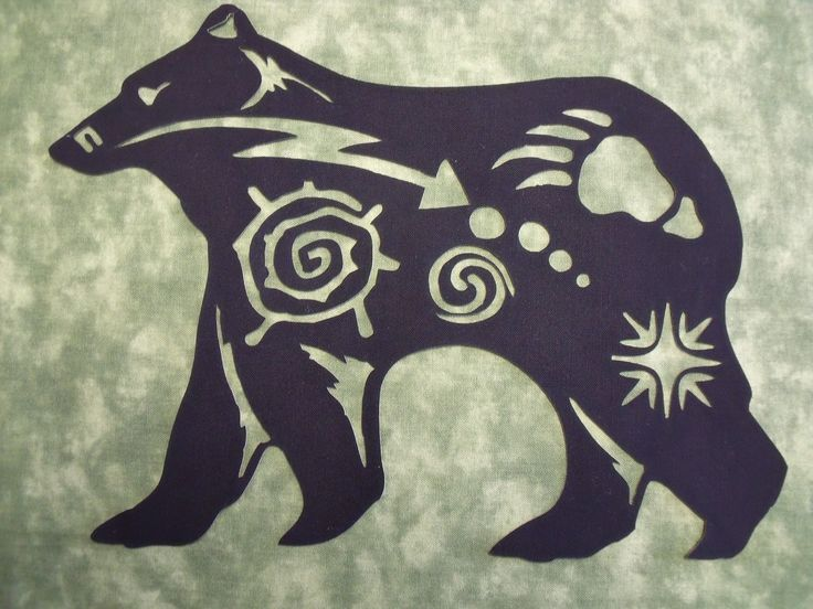 Native American Bear Symbol Silhouette Comes In 3 Sizes