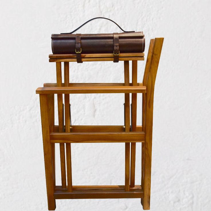 INDIE Leather & Teak Director's Chair