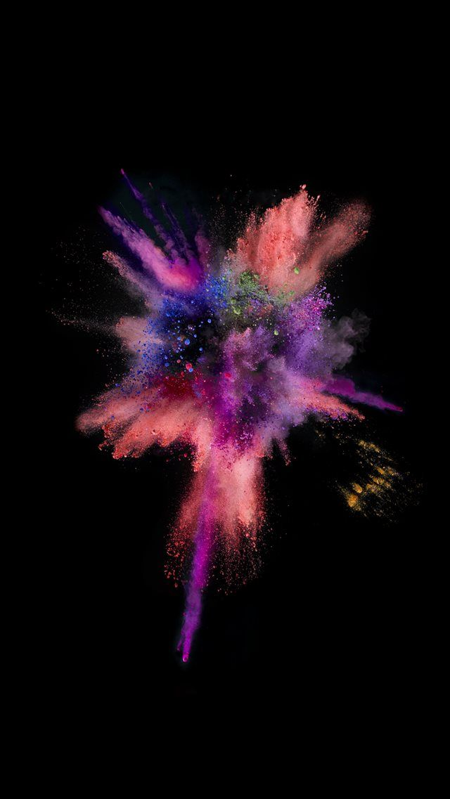 iOS9 Colorful Explosion Smoke Dark iPhone 8 Wallpapers | Fond d ...