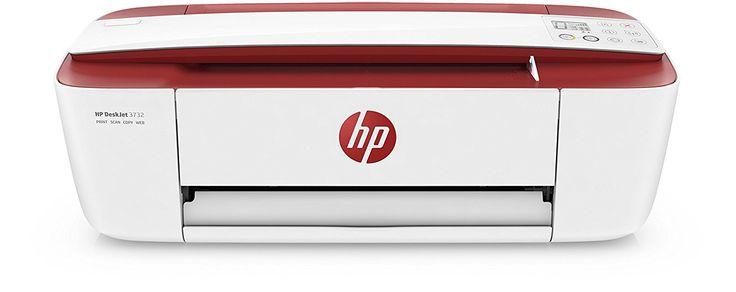HP DeskJet 3732 Tintenstrahl-Multifunktionsgerät rot/ weiß - Der stylische Tintenstrahldrucker für's Studium und Kreative