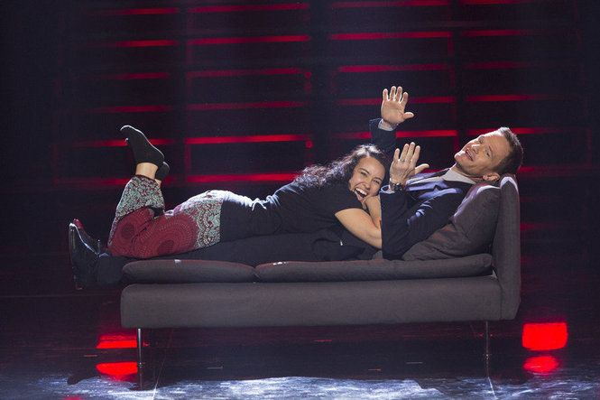 """Portland's professional cuddler, Samantha Hess, demonstrated her cuddling technique on guest judge Neil Patrick Harris on Tuesday's """"America's Got Talent."""" But the judges weren't impressed."""
