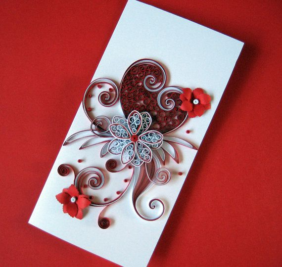 Quilled Valentine S Day Card For Her Wife Girlfriend Darling