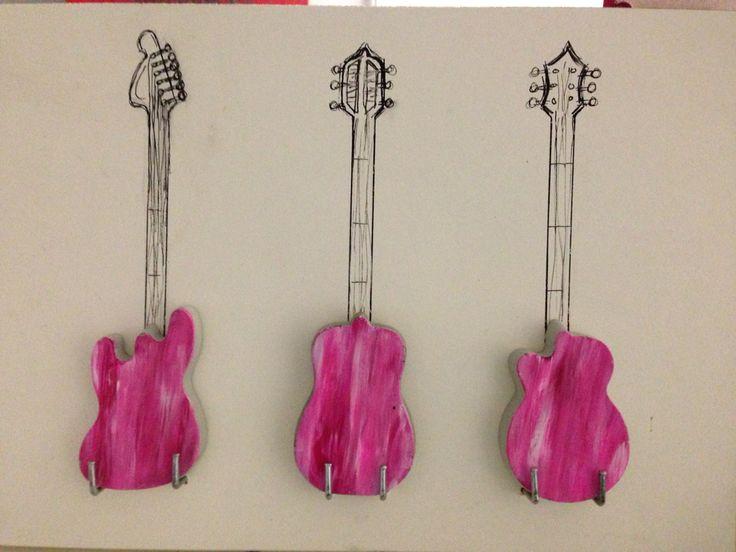 Concrete guitar decoration