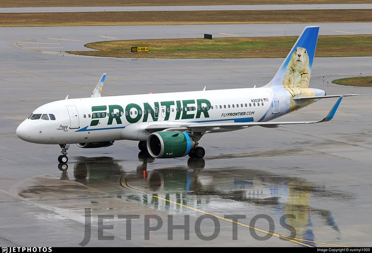 Frontier Airlines (US) Airbus A320-251N N303FR aircraft, named ''Poppy the Praie Dog'', skating at USA, Texas, Houston, George Bush Intercontinental Airport. 15/01/2017.