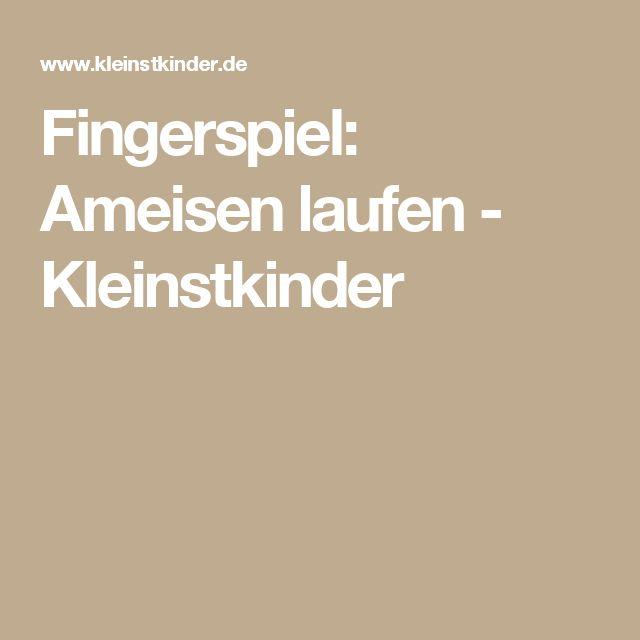Kennenlernen fingerspiel