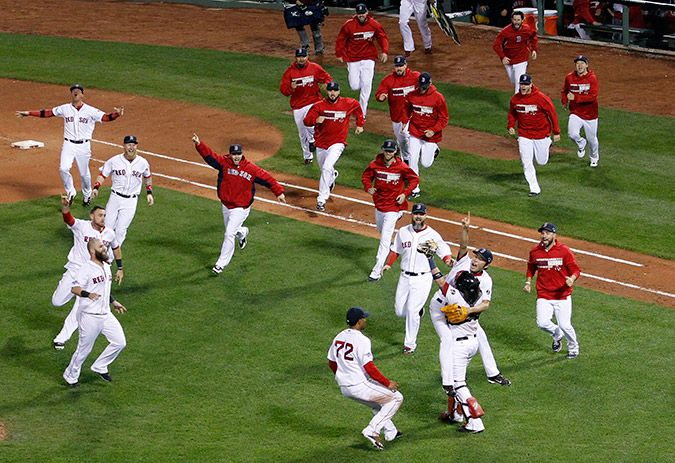 The Red Sox Go to the 2013 World Series!  Photo Credit: Elise Amendola/AP Photo #redsox #worldseries