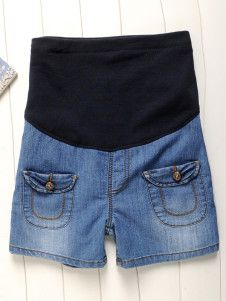 Stylish Blue Pockets Denim Jeans For Maternity