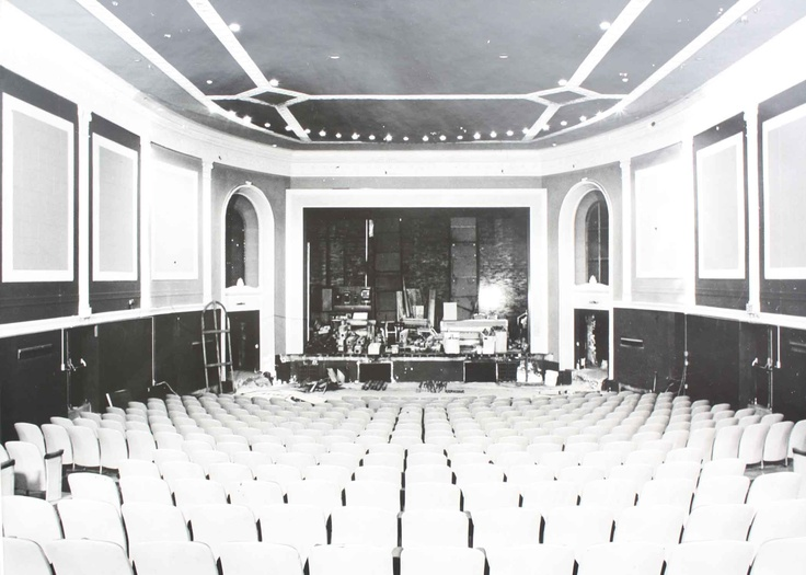 a view of the theatre before we built out the stage and put in an orchestra pit