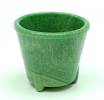 Groen graniver cactuspotje ontwerp A.D.Copier 1932 uitvoering Glasfabriek Leerdam