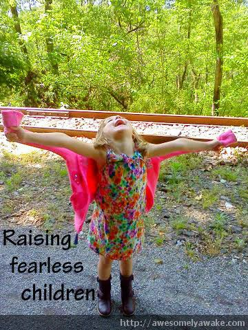 Are you mindful of the ways in which you may be passing your own fears along to your children? {6 Ways to Encourage Children to Take Risks.} #awesomelyawake