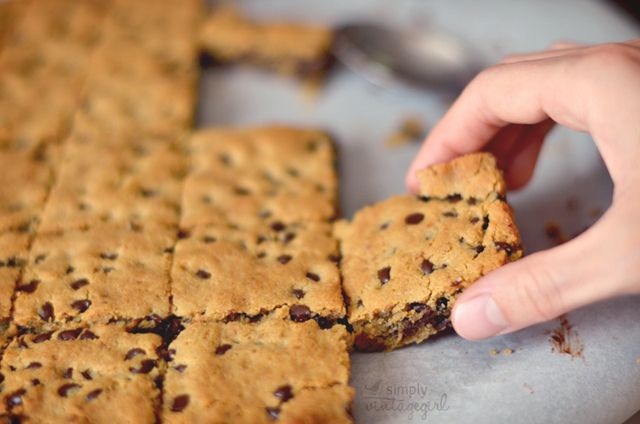Delicious! Chocolate Chip Cookie Squares (Gluten-free, Grain-free, Dairy-free)