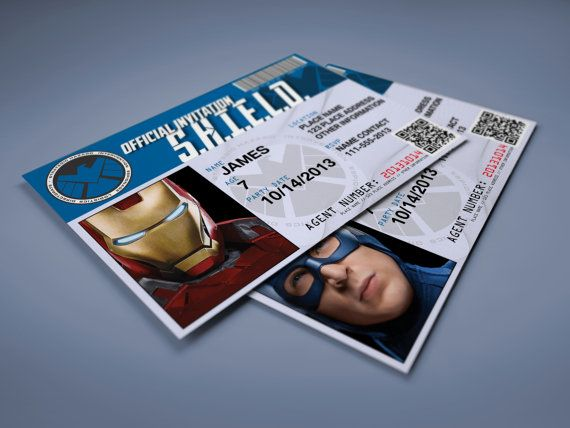 Hey, I found this really awesome Etsy listing at https://www.etsy.com/listing/223590417/avengers-shield-custom-invitation