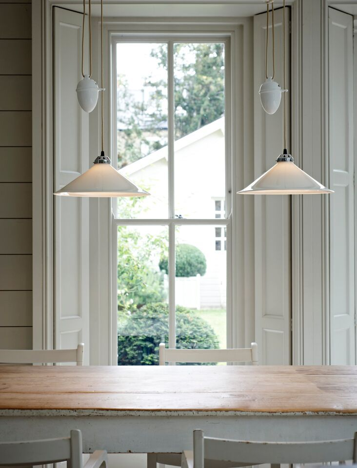 Original BTCs Cobb Rise Fall Pendants Allow You To Adjust Height And Vary Lighting Effects Farmhouse Dining RoomsFarm
