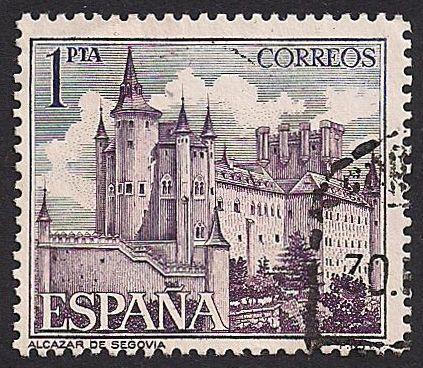 Estampilla España, 1964 - Alcázar de Segovia