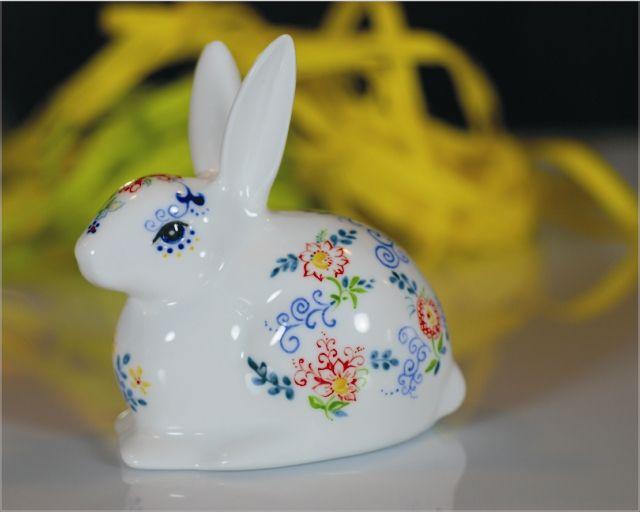 Królik polski ręcznie malowany Easter rabbit No. 2