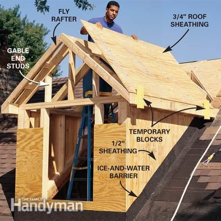 How To Frame A Gabled Dormer The Family Handyman Roof