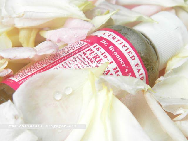 Praktycznie kosmetycznie.: Róże od Dr. Bronners'a [ mydlana miłość]