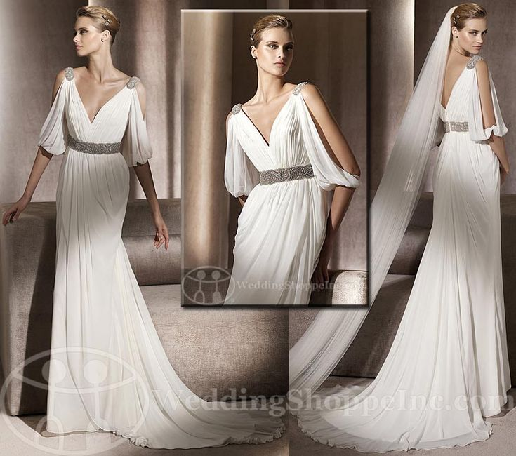 Wedding dresses greek goddess style fashion