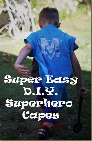 Superhero Shirt-Capes