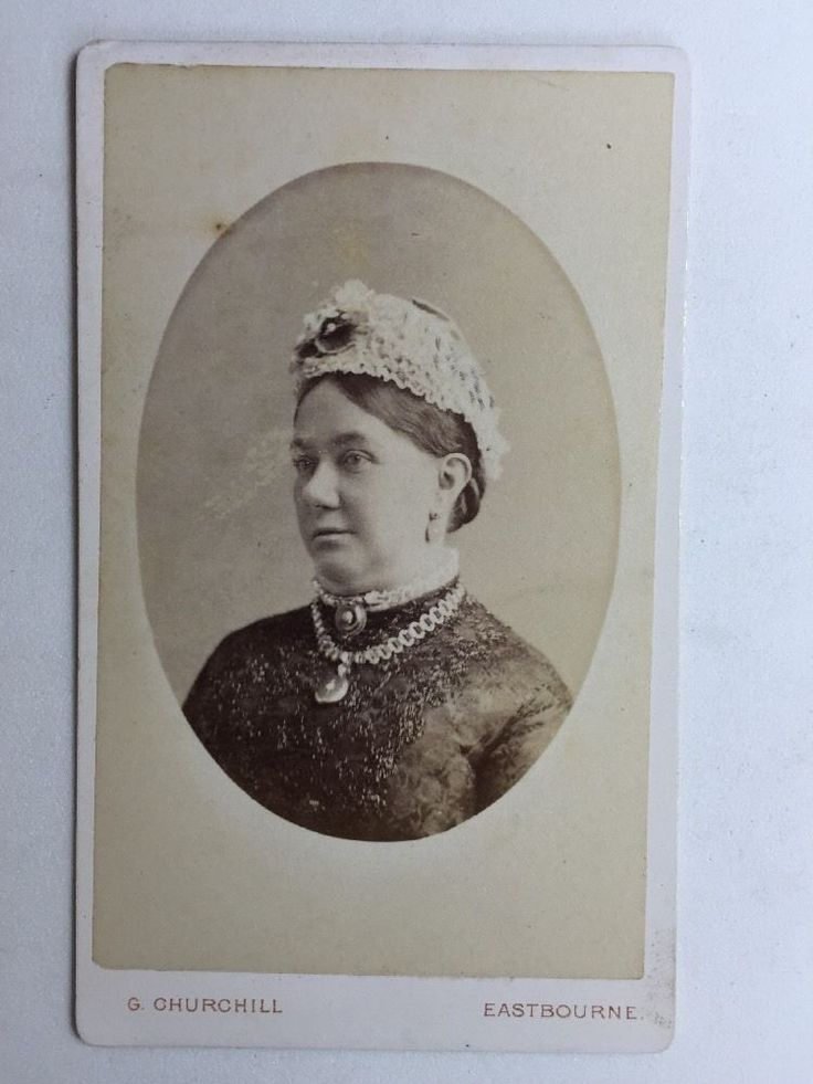 Victorian Carte De Visite CDV Photo - G Churchill - Eastbourne  - Lady  | eBay