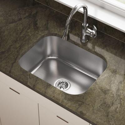 Mr Direct Undermount Stainless Steel 23 In Single Bowl Kitchen Sink 2318 18