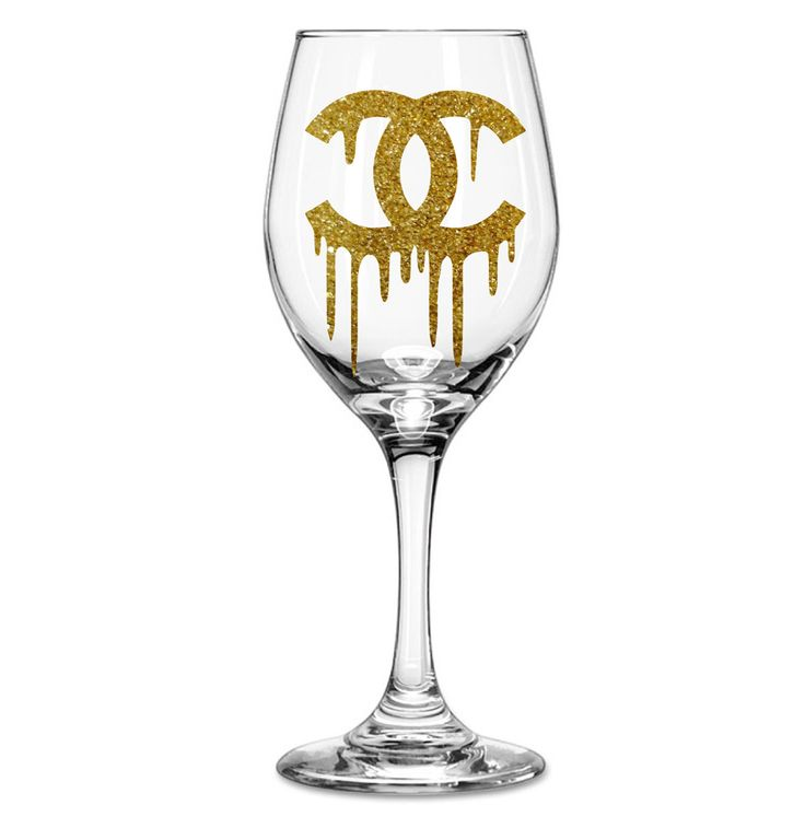 This listing is for one Chanel Inspired wine glass. Available in multiple sizes and styles, please make your selection from the drop down menu. Traditional wine glasses have a stem. Please make sure you make the selection you would like from the drop down menu before purchase. Love wine? Love Chanel? This Chanel Inspired Drip Wine Glass is great for yourself or someone special! Is available in silver glitter, black glitter, gold glitter, pink glitter, cinnamon glitter, or dark amethyst…