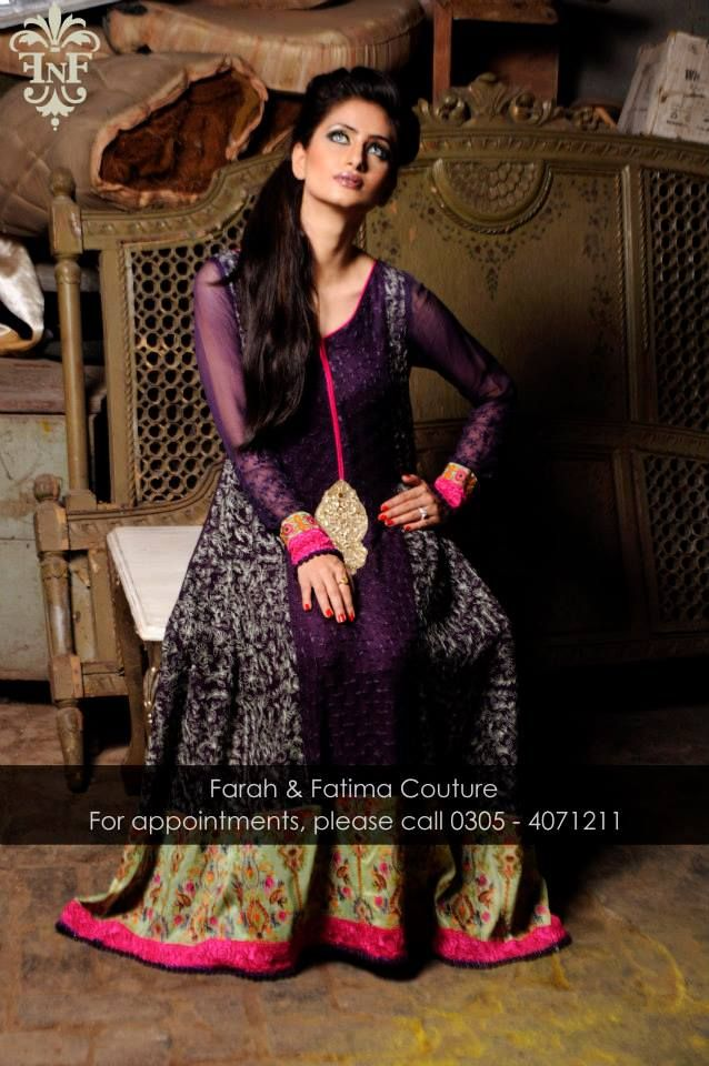 new stylish dress Farah and Fatima 2014 for wedding