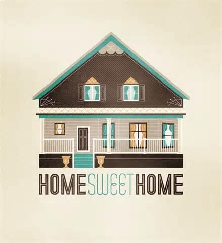 home sweet home illustratio