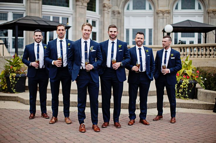 Wedding party, Wedding photography, blush, copper, white. Navy suits. Fall weddi…