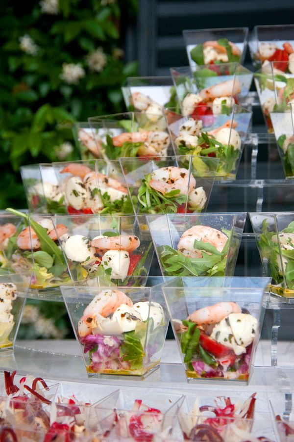 Nice salad presentation-I love the square cups!!