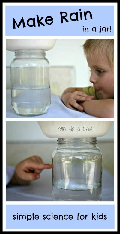 How Does it Rain?  Make it rain in a jar with this simple science experiment for kids.